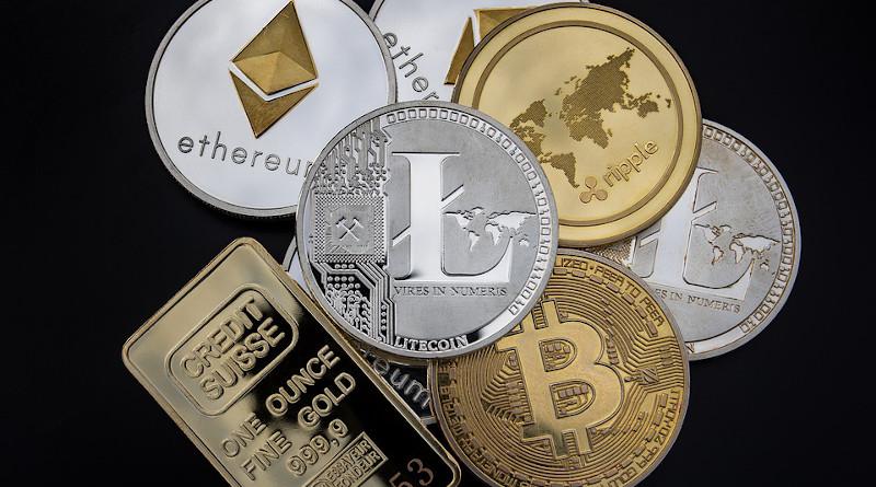 Crytocurrencies Bitcoin Cryptocurrency Concept Blockchain Money Litecoin