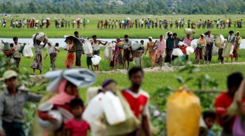 Displaced Rohingya in Myanmar. Photo Credit: Tasnim News Agency
