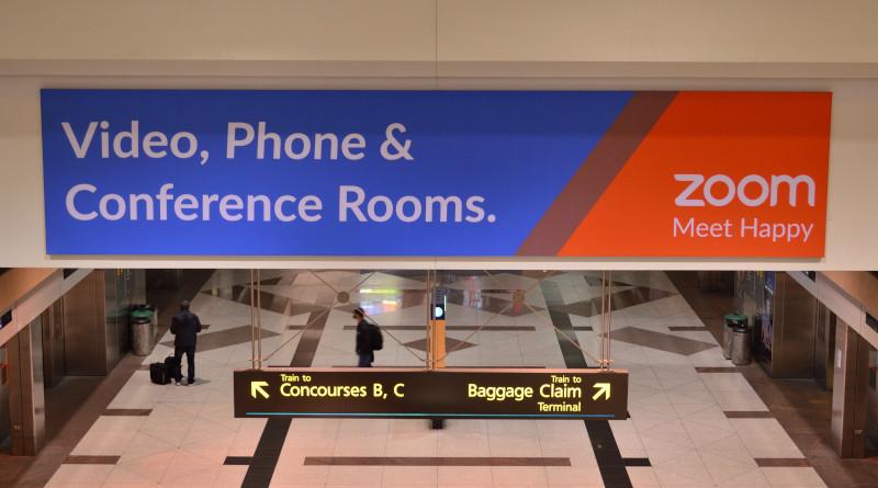 Zoom advertisement at Denver International Airport. Photo Credit: Raysonho, Wikipedia Commons