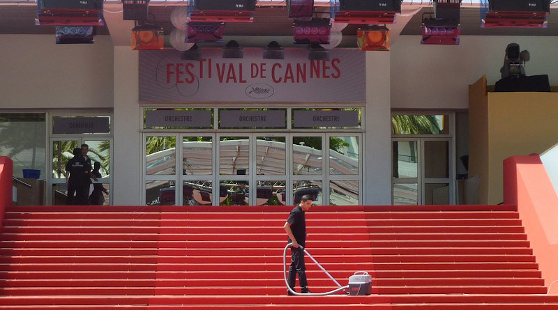 France Film Festival Cleaning Stairs Cleanliness Man Person Cannes