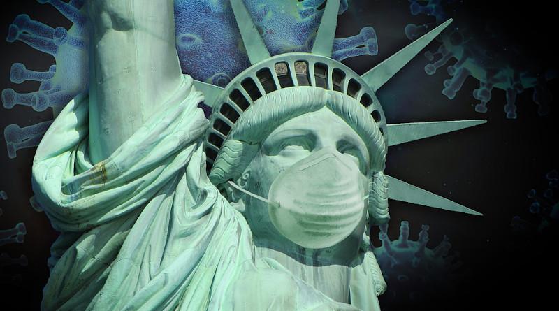 Coronavirus Covid-19 Virus America Statue Of Liberty Corona Pandemic
