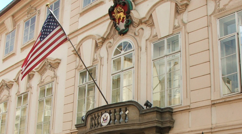 Embassy of United States in Prague, Czech Republic. Photo Credit: I, Krokodyl, Wikipedia Commons.
