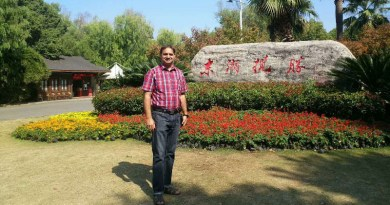 Dr. Abdul Latif in Wuhan, China. Photo Credit: Author