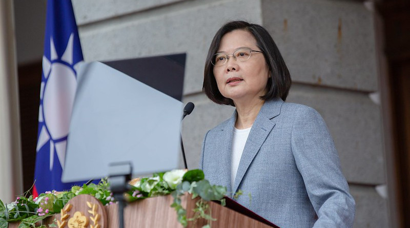 Taiwan's President Tsai Ing-wen delivers inaugural address. Photo Credit: Taiwan President's Office