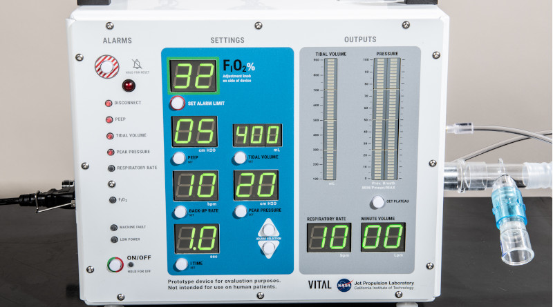 VITAL (Ventilator Intervention Technology Accessible Locally) is a new high-pressure ventilator developed by NASA and tailored to treat coronavirus (COVID-19) patients. Engineers at NASA's Jet Propulsion Laboratory in Southern California designed the device to free up the nation's limited supply of traditional ventilators so they may be used on patients with the most severe COVID-19 symptoms. Credits: NASA/JPL-Caltech