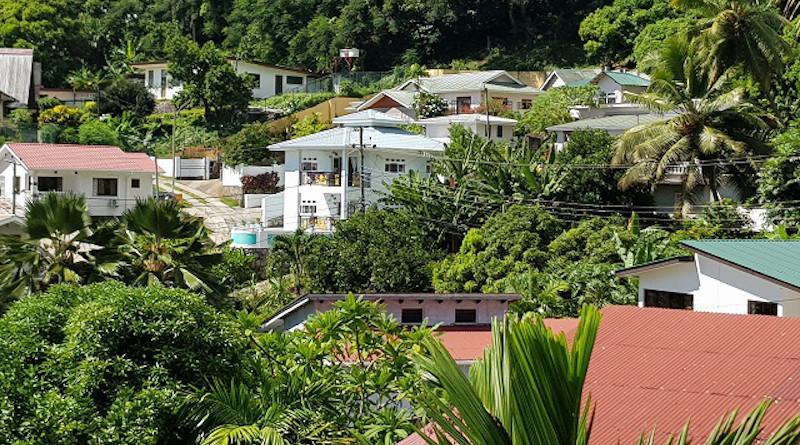 A neighborhood in Seychelles. Photo Credit: Betymie Bonnelame, Seychelles News Agency
