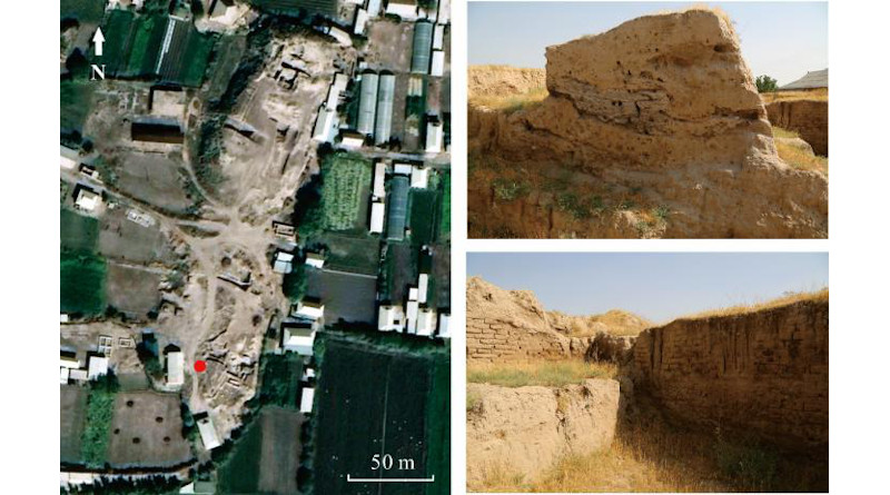 Satellite imagery of Khalchayan and surface remains within the site. Credit: Chen Guanhan and Zhou Xinying, IVPP CREDIT: ©Science China Press