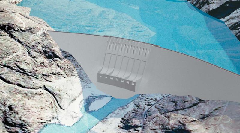 An illustration of the Diamer Basha Dam project. Credit: Pakistan Water & Power Development Authority (WAPDA)