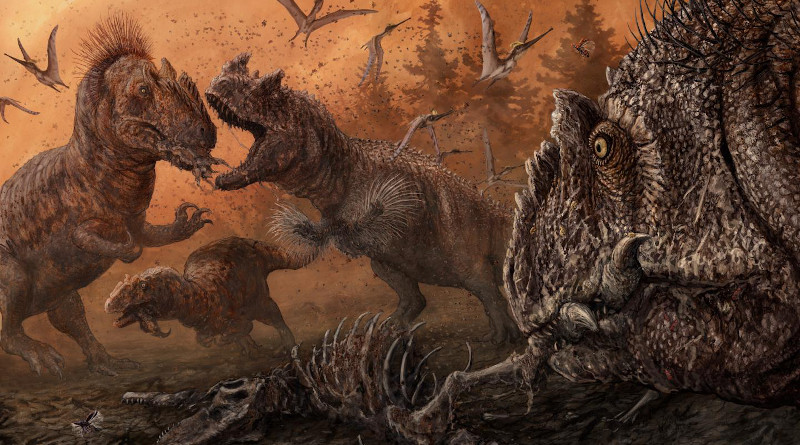 Big theropod dinosaurs such as Allosaurus and Ceratosaurus ate pretty much everything -- including each other, according to a new study. CREDIT: PLOS ONE