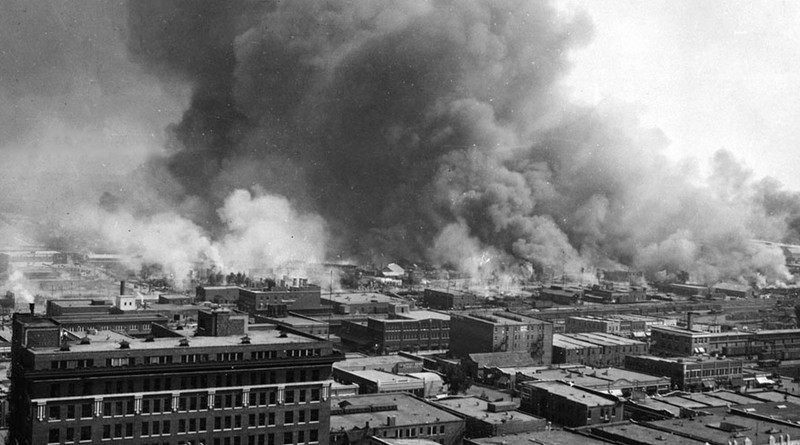 Destruction from the 1921 Tulsa Race Riot. Photo Credit: United States Library of Congress, Wikipedia Commons