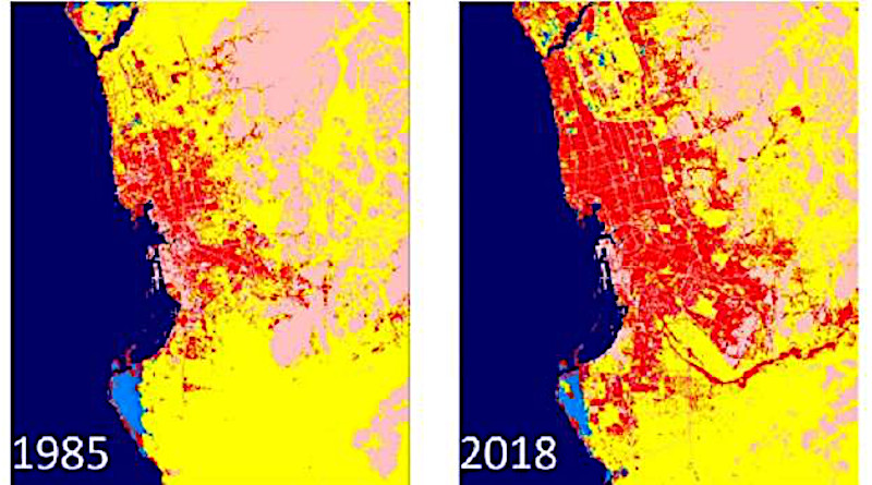 Sattelite images show changes in the urban land cover over Jeddah during the past three decades. © 2020 KAUST