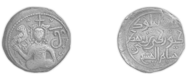 Giorgi III (1156-1184). Follis. d=23 mm. 5.75 gr. 1174.