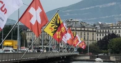 Flags Switzerland Geneva Flag Flutter Flag Poles