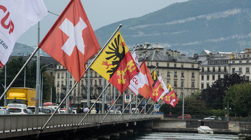 Flags Switzerland Geneva Flag Flutter Flag Poles