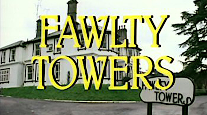 Title card of British TV series Fawlty Towers. Credit: Wikipedia Commons