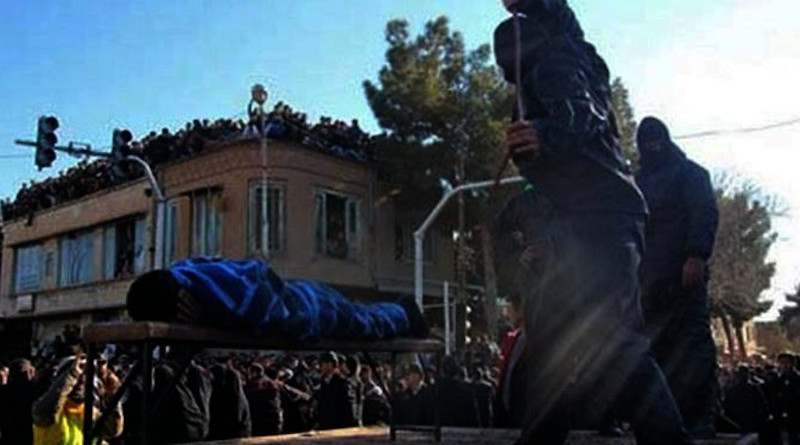Public flogging in Iran. Photo Credit: Iran News Wire