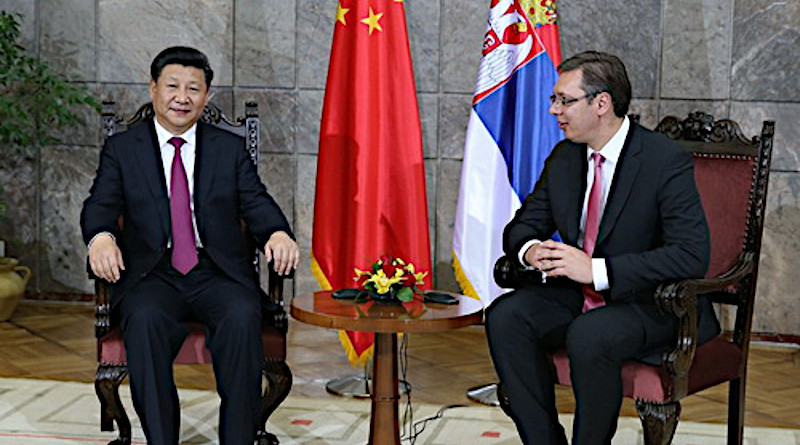 China's President Xi Jinping with Serbia's Prime Minister Aleksandar Vucic. File Photo: Credit China's Foreign Ministry