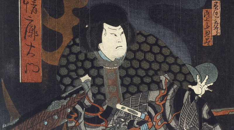 Brooklyn Museum – Kabuki Scene (Diptych) – Hokushu: Photo Credit: Shunkōsai Hokushū - Online Collection of Brooklyn Museum; Wikipedia Commons