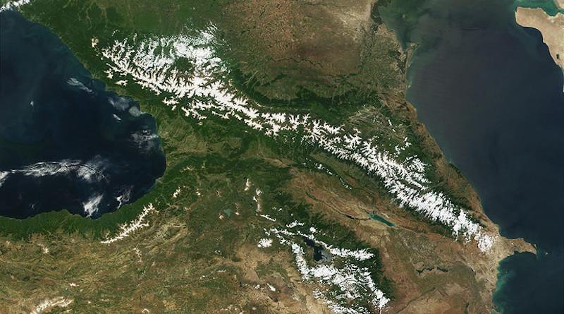 Satellite image of the Caucasus, from NASA's Visible Earth. Photo Credit: NASA/MODIS - Jacques Descloitres, MODIS Land Rapid Response Team