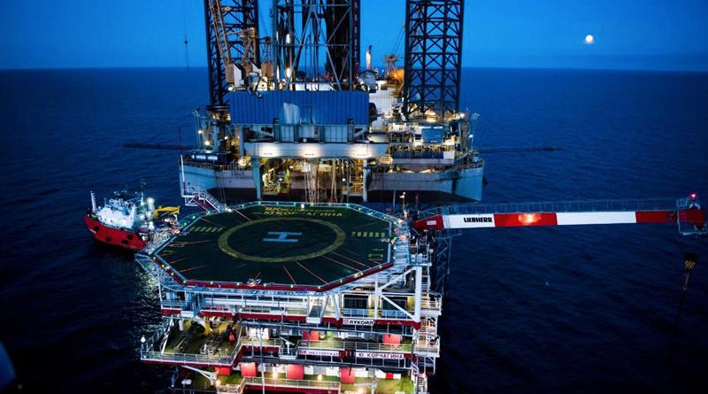 Lukoil platform in North Caspian. Photo Credit: LUKOIL