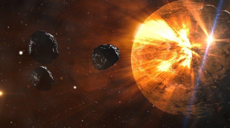 Asteroids Planet Space Meteor Destruction Comet