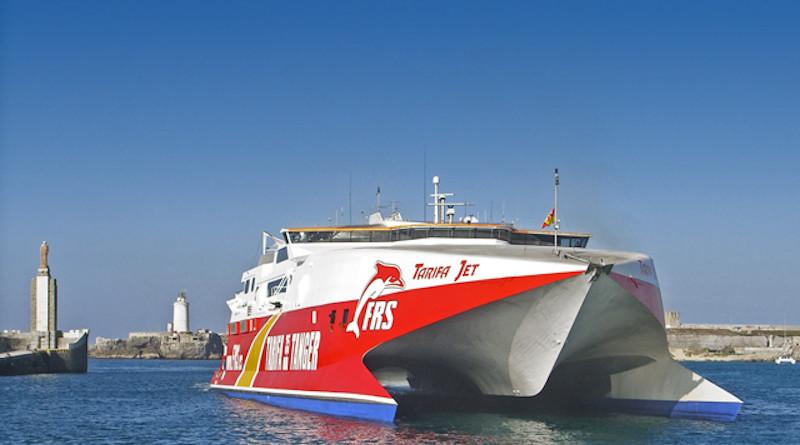 Spain's Tarifa Jet ferry. Photo Credit: Maddmaxx, Wikimedia Commons