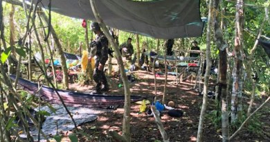 Philippine soldiers secure an area where they encountered Abu Sayyaf bandits in Patikul, Sulu province, on the day a long-held Dutch hostage was shot as he tried to escape the militants during a firefight, May 31, 2019. Joint Task Force Sulu Handout