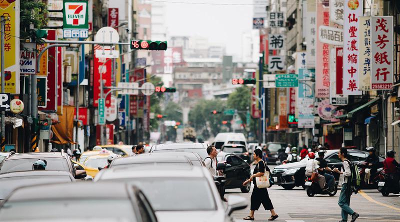 Taipei Taiwan City Cityscape Asia People Street