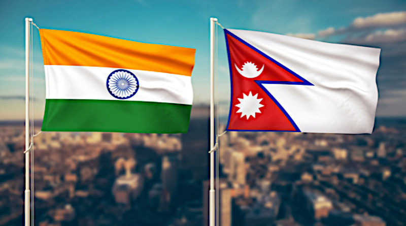 flags nepal and india