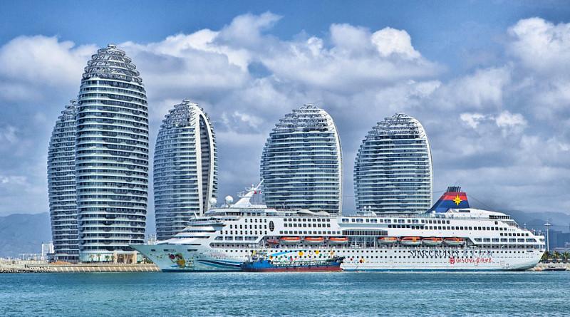 Ship Hainan China Skyline Ocean Liner Hdr City
