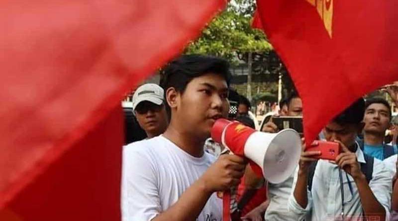 Arakanese student activists in Myanmar. Photo Credit: DMG