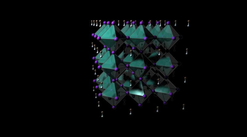 Perovskite structure. CREDIT: John Labram, Oregon State University.