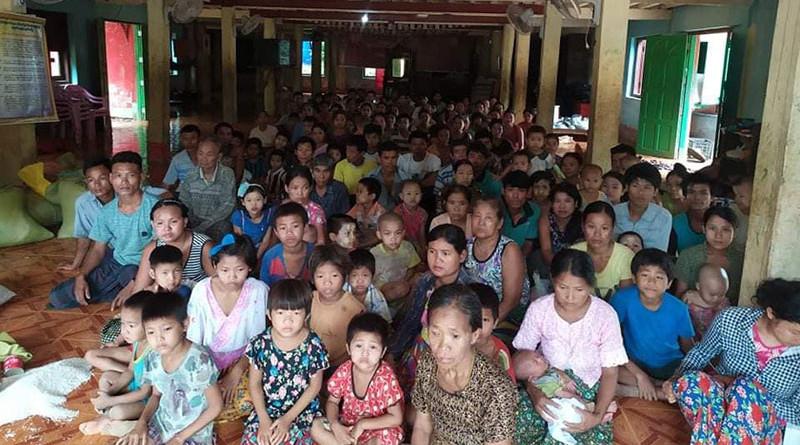 Internally displaced people (IDPs) in Ann town, Arakan State, Myanmar. Photo Credit: DMG