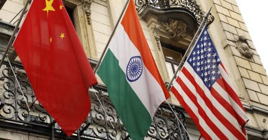 Flags China India Usa United States