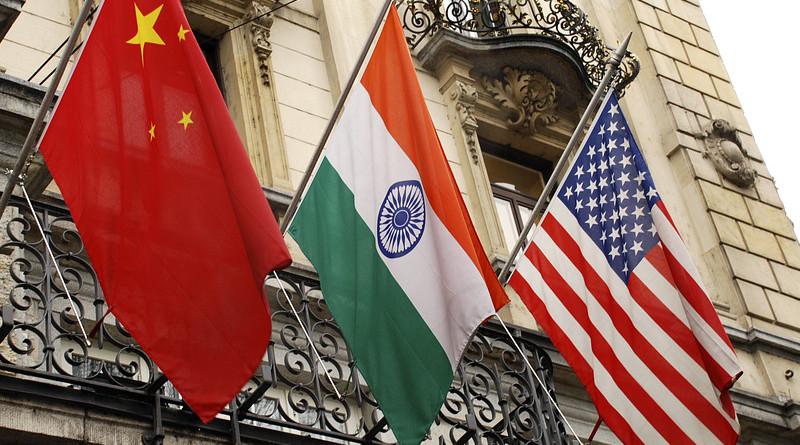 Flags China India Usa United States