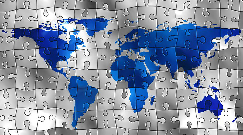 Continents Puzzle World Earth Global Globalization