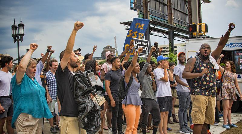 Protest Blm Black Lives Matter Sign Penn Station