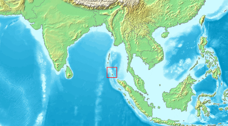 Location of Nicobar Islands. Credit: Wikipedia Commons