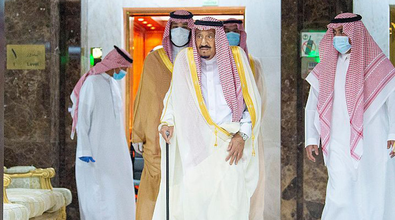 Saudi Arabia's King Salman leaves the hospital after recovering from an operation to have his gallbladder removed. Photo Credit: SPA