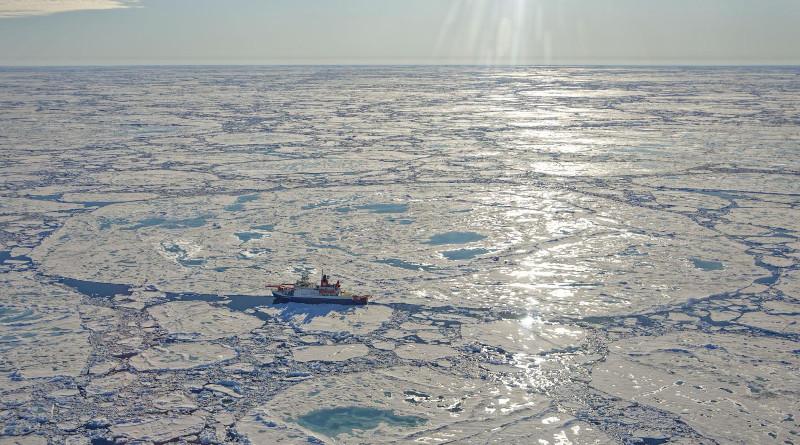 MOSAiC ice floe during Cruise Leg 4 on June 30, 2020. CREDIT Photo: Alfred-Wegener-Institut / Markus Rex, CC-BY 4.0