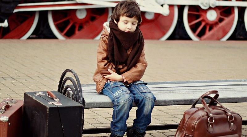 Russia Boy Station Suitcases Child Train Railway The Ussr