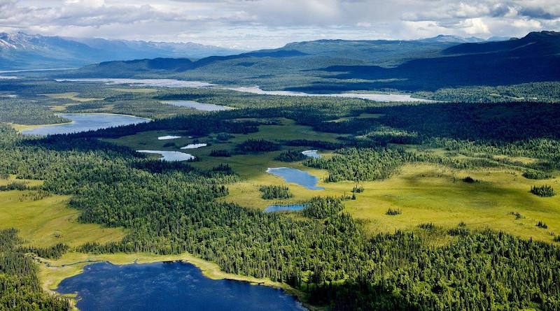 Alaska Denali River Water Lake Landscape Sky