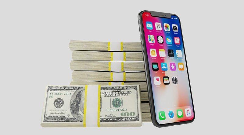 Money Dollar Iphone X Iphone X Apple Mobile Smartphone
