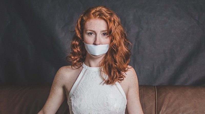 Woman Silenced Silence No Speak Model Young