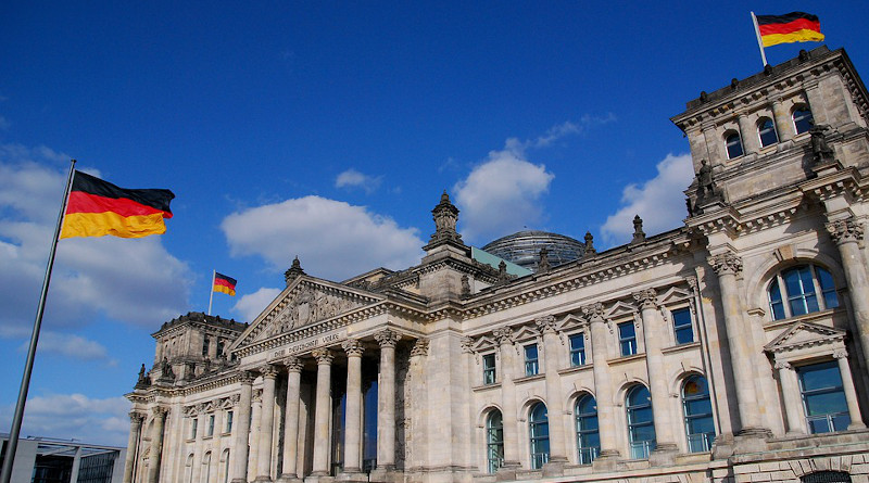 Germany Flag Reichstag Berlin Government Buildings Bundestag