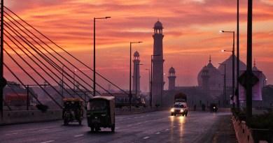 Badshahi mosque Lahore Pakistan Sun Punjab Mughal