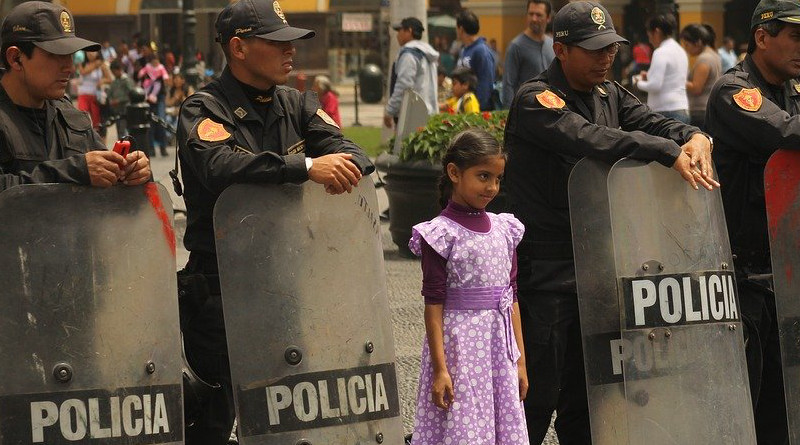 File photo of police in Lima, Peru