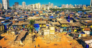 India Mumbai Slums Poverty Poor Ghetto Shanty City