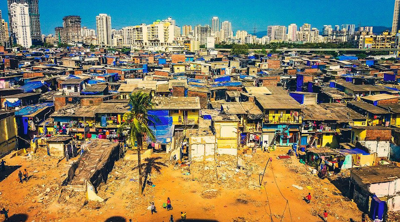 India Mumbai Slums Poverty Poor Ghetto Shanty City