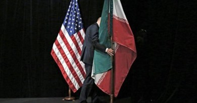 Flags of the United States and Iran. Photo Credit: Tasnim News Agency